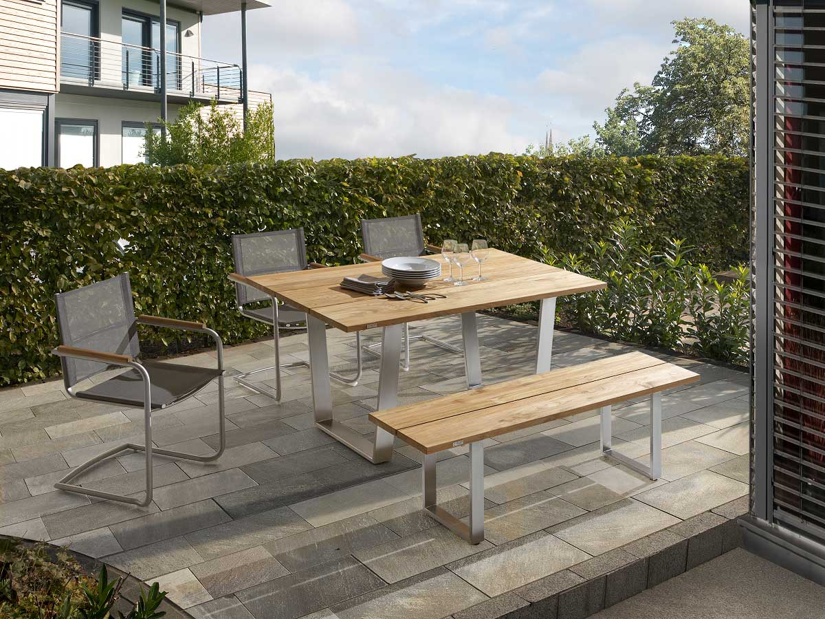 Niehoff Gartenmöbel Set Noah Teak Edelstahl Online Kaufen Boronode