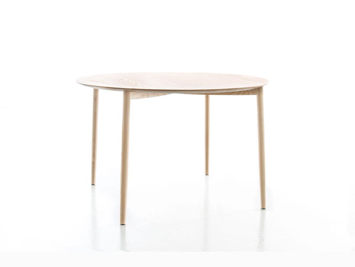 Moderner Esstisch rund aus Eiche oder Esche in verschiedenen ...