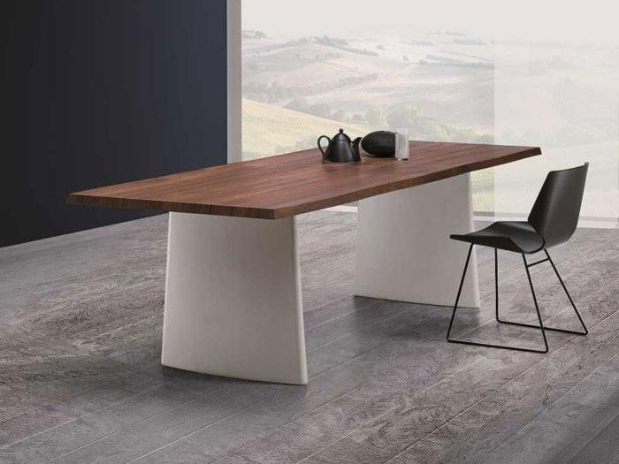 italienischer design esstisch rimini holz und beton online kaufen. Black Bedroom Furniture Sets. Home Design Ideas