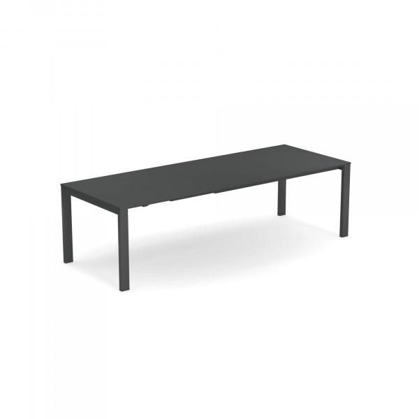 emu Outdoor Esstisch Round (ausziehbar) - mit Stahl-Tischplatte - 22 Antikeisen