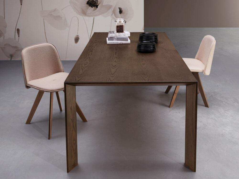 ausziehbarer italienischer esstisch bari aus massivholz online kaufen. Black Bedroom Furniture Sets. Home Design Ideas