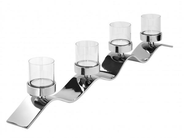 Fink Living Teelichthalter Wave 4-flammig - 54cm