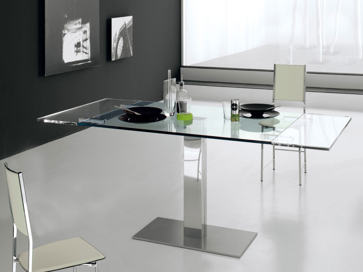 cattelan italia auszieh tisch elvis drive glas online. Black Bedroom Furniture Sets. Home Design Ideas
