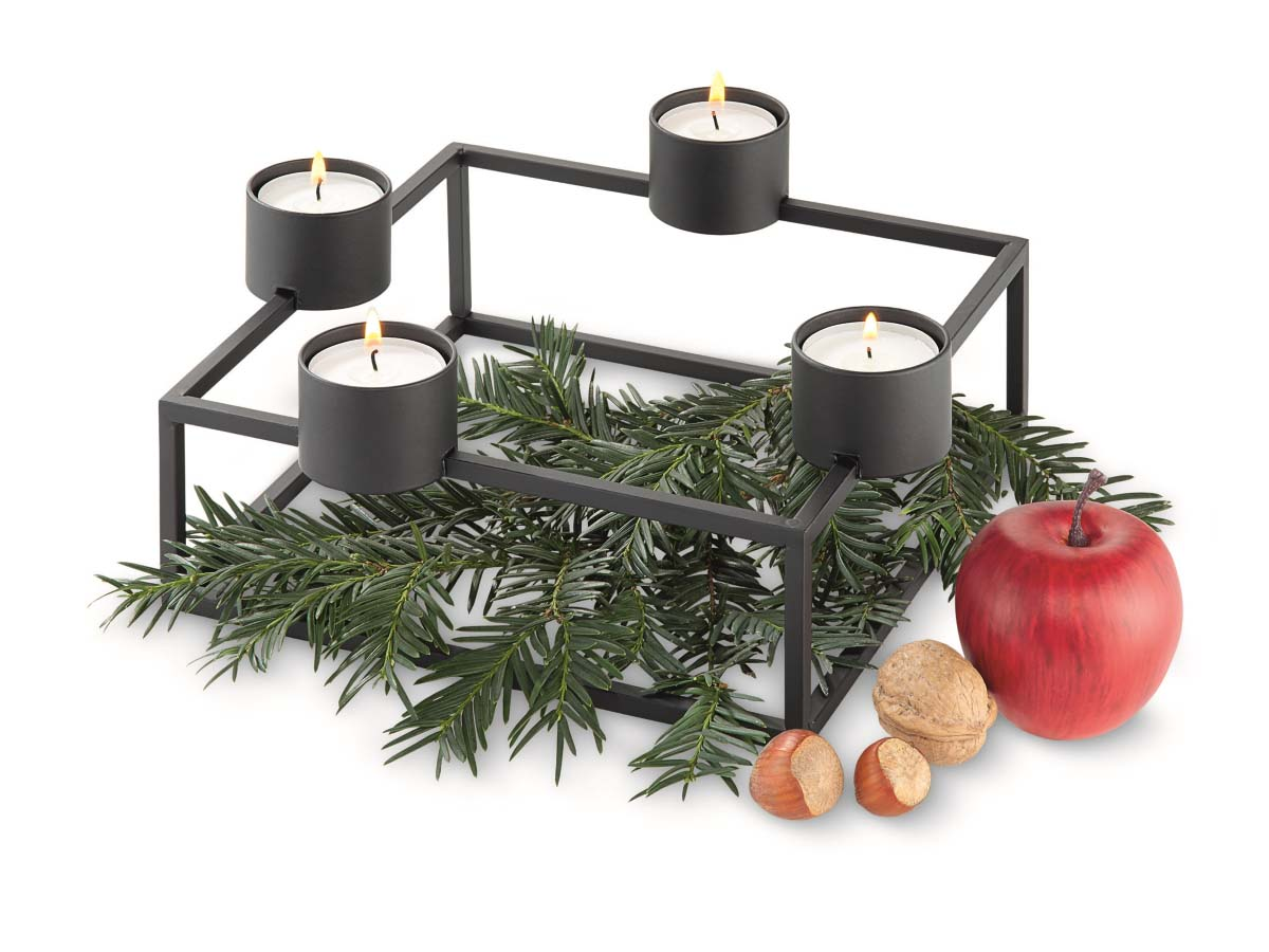 philippi teelichthalter adventskranz st vchen cubo. Black Bedroom Furniture Sets. Home Design Ideas