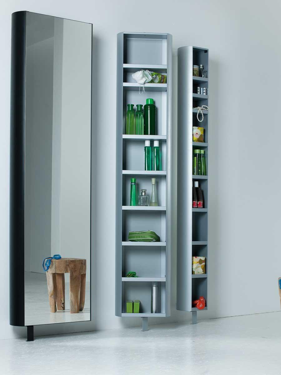 jan kurtz multi tube drehschrank mit spiegel in 3 farben und gr en online kaufen. Black Bedroom Furniture Sets. Home Design Ideas