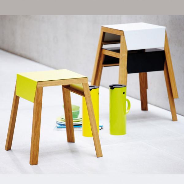 Jan Kurtz Stapelhocker Aino mit Sitzblech in 3 Farben