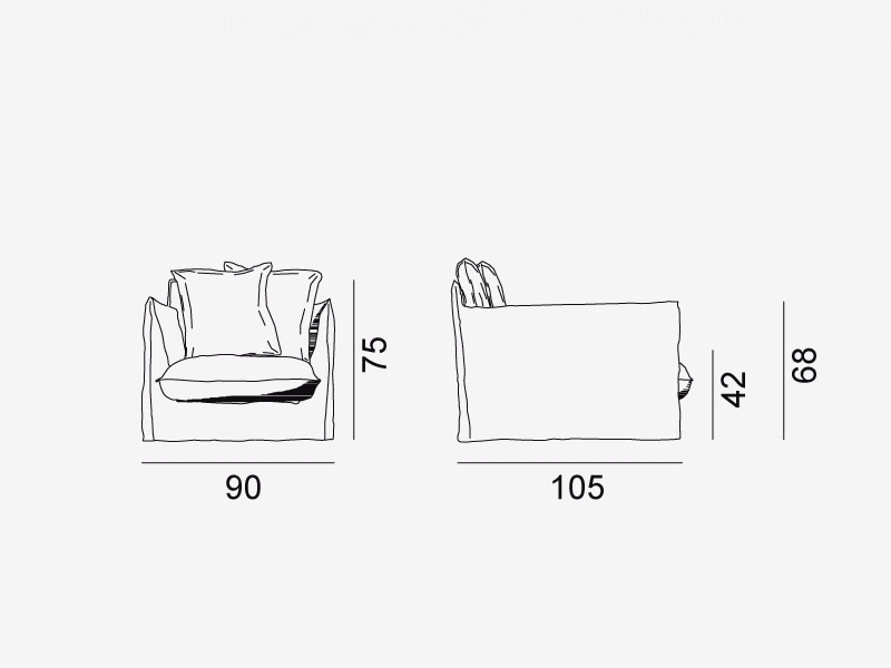 Gervasoni Ghost 01 Design Lounge Sessel Online Kaufen Borono