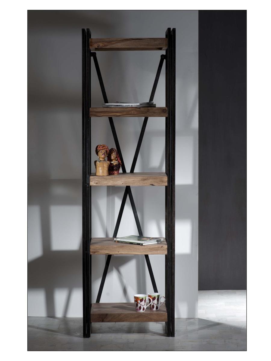 industrial regal panama holz und schwarzes metall online kaufen. Black Bedroom Furniture Sets. Home Design Ideas