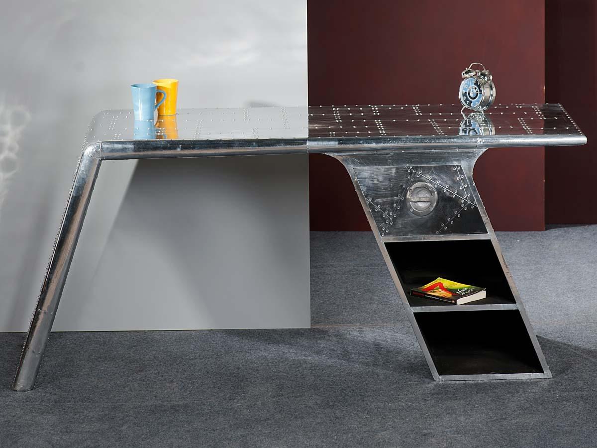 Industriedesign Schreibtisch Metall Mit Nieten Airman 81707 21