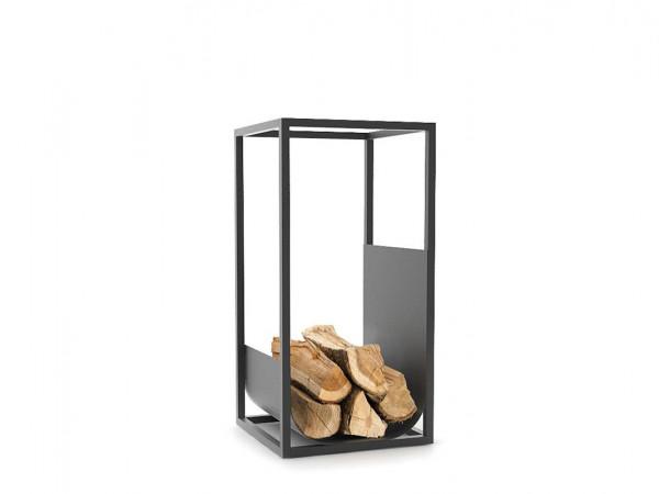 Modernes Brennholzregal CUBE von conmoto schwarz