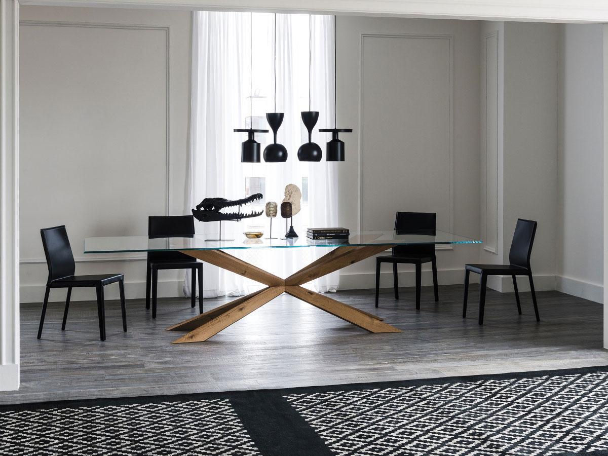 cattelan italia esstisch spyder glas online kaufen. Black Bedroom Furniture Sets. Home Design Ideas