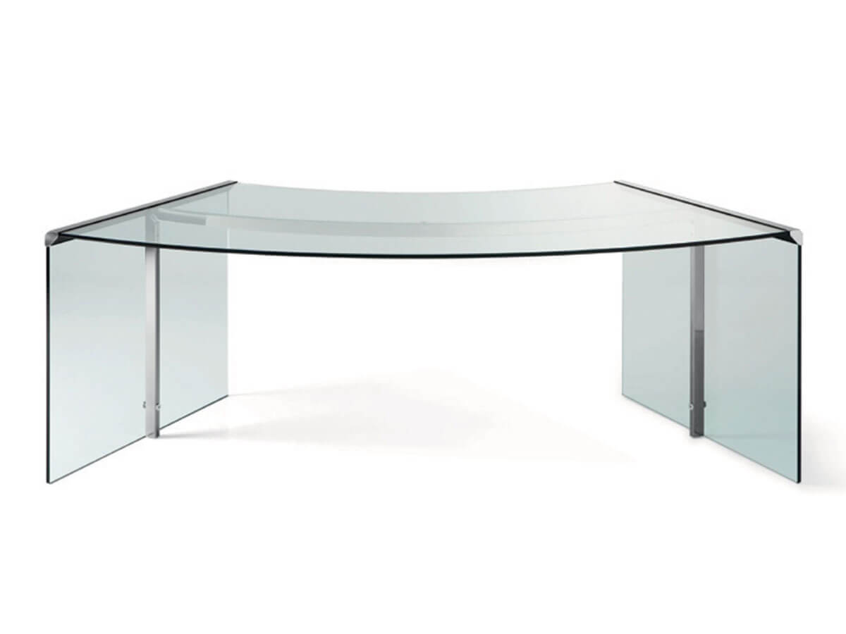 Designklassiker Glas Schreibtisch President Senior Von G R Online