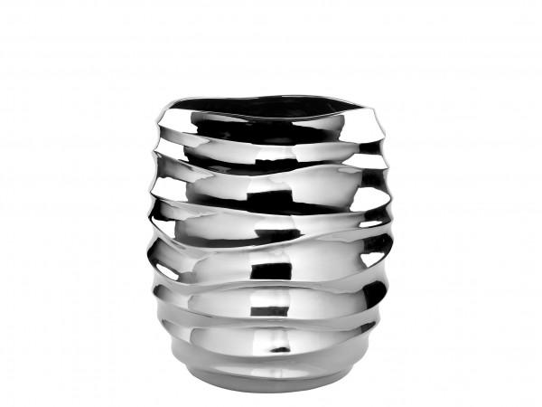 Fink Living Vase/Übertopf Fabia - Silber, 17 cm hoch