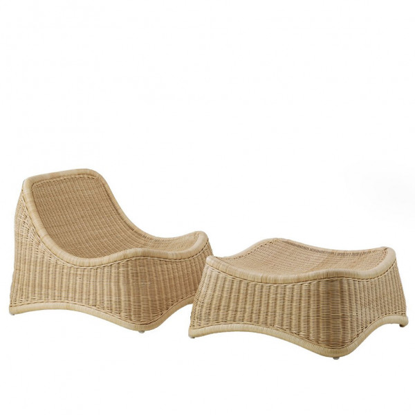 Sika Design Exterior Loungesessel Chill aus Alu Rattan