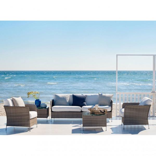 Sika Design Avantgarde 3-Sitzer Sofa Orion teak grau