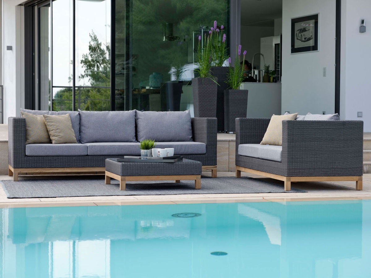 stern gartenm bel kleines loungesofa fontana geflecht basaltgrau online kaufen. Black Bedroom Furniture Sets. Home Design Ideas