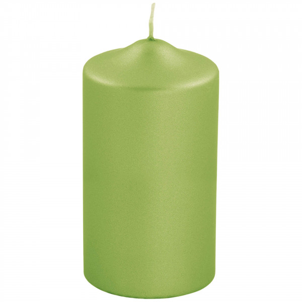 Fink Living Stumpenkerze Candle - 15 cm hoch, Grün metallic