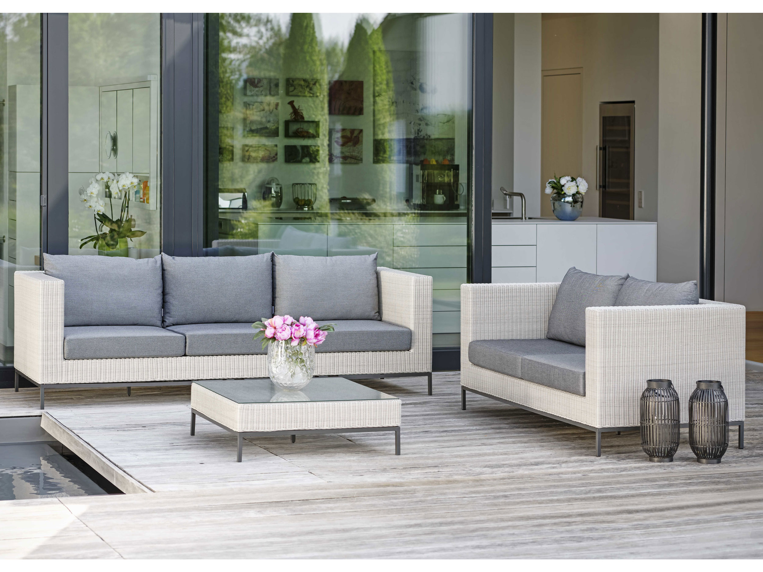 Stern gartenm bel juno garten lounge set geflecht for Gartenmobel stern outlet