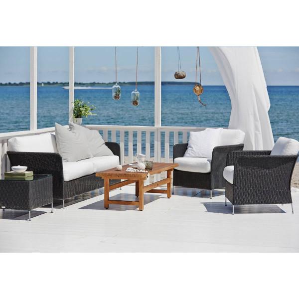 Sika Design Avantgarde 3-Sitzer Sofa Orion schwarz