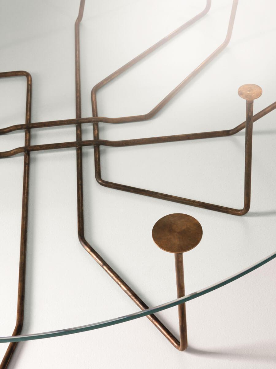 Gallotti Radice Couchtisch Connection Rund Aus Glas Und Messing