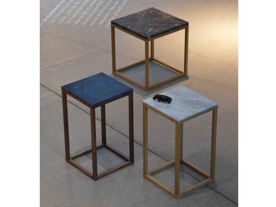 Beistelltisch Pino Marmor mit Holzgestell