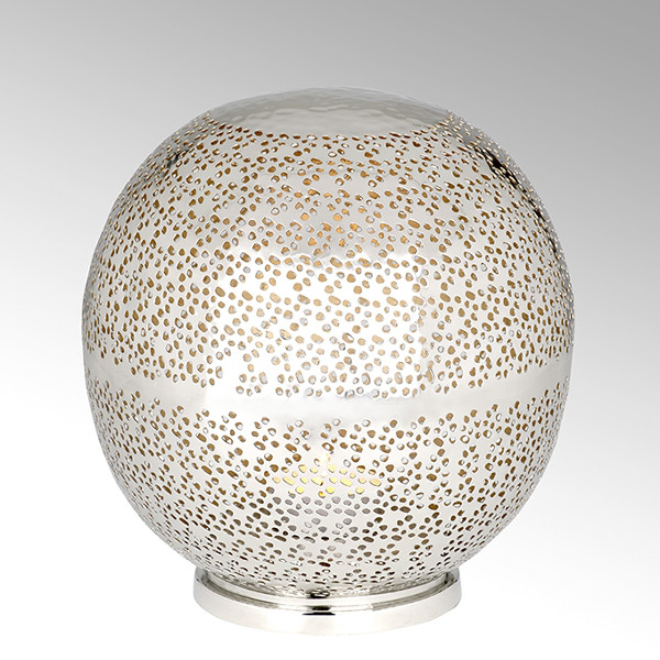 Lambert Windlicht Azrou vernickelt / Gold - Durchmesser 27 cm