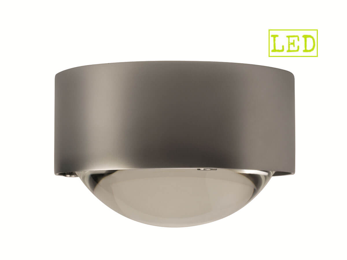 Top-Light-Puk-One-Decken-Wand-Leuchte-mit-Glas-Linse-als-Spot-LED-Version-8W-2800-K-600-Lumen-in-chrom-matt-Freisteller-Seitenansicht