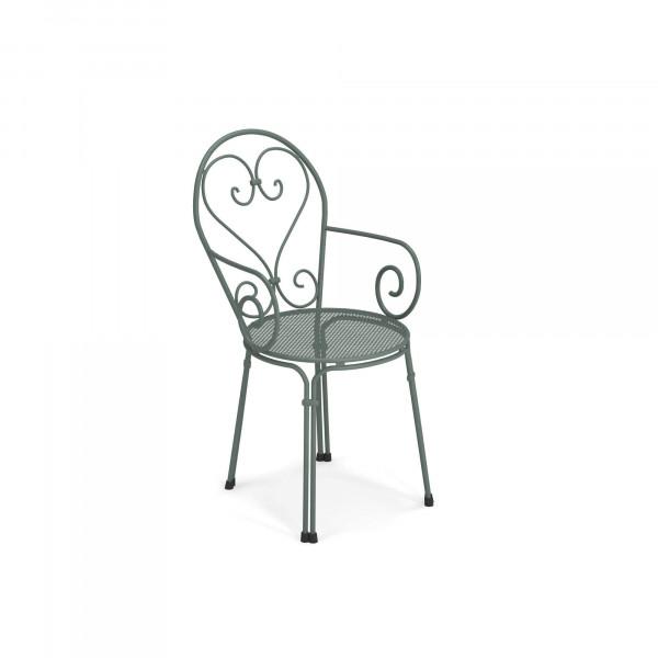 emu Outdoor Gartenstuhl Pigalle (mit Armlehne) - 75 Dunkelgrün