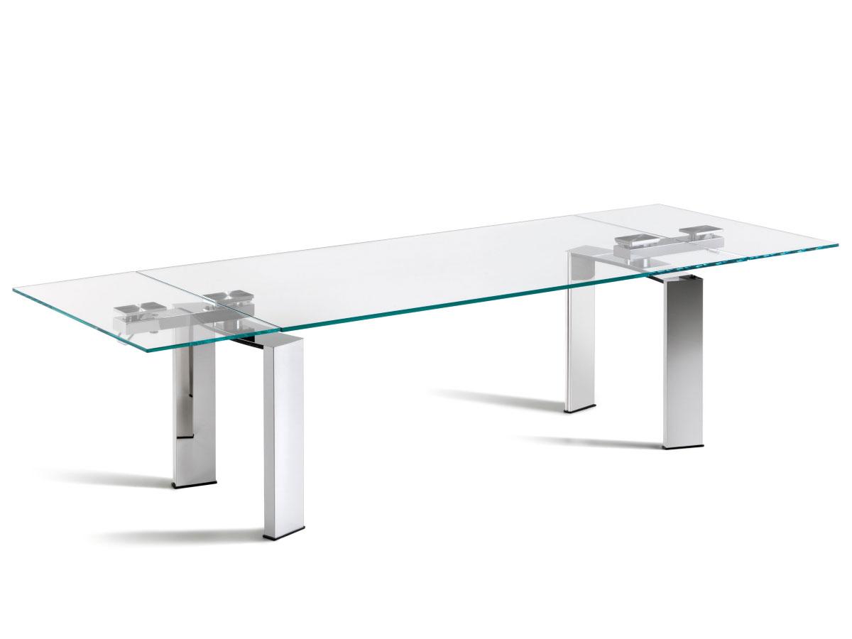 Eitelkeit Glas Esstisch Ausziehbar Referenz Von Cattelan-italia-ausziehbarer-glas-esstisch-daytona-mit-edelstahl-