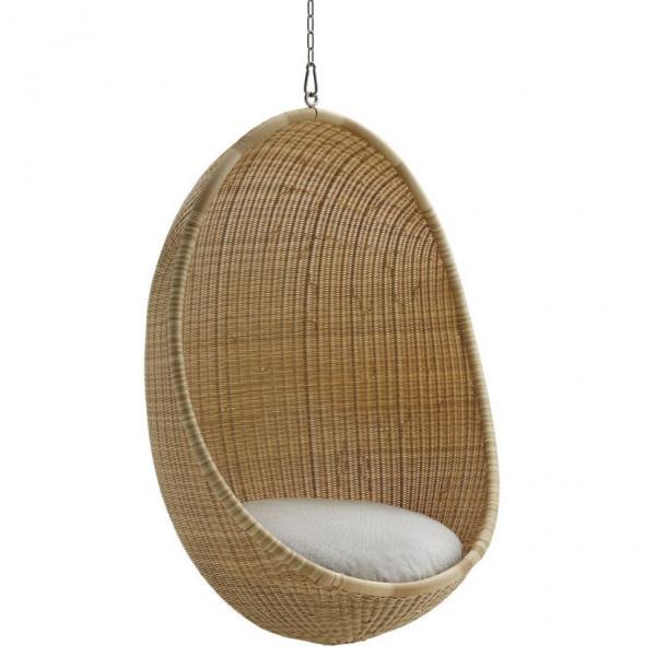 Sika Design Exterior Hanging Egg Alu Rattan Natur