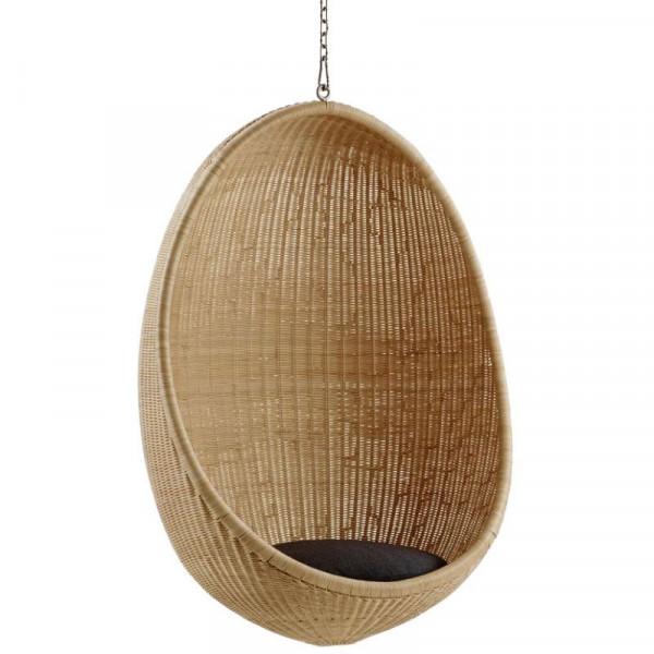 Sika Design Icons Hanging Egg aus Rattan Natur