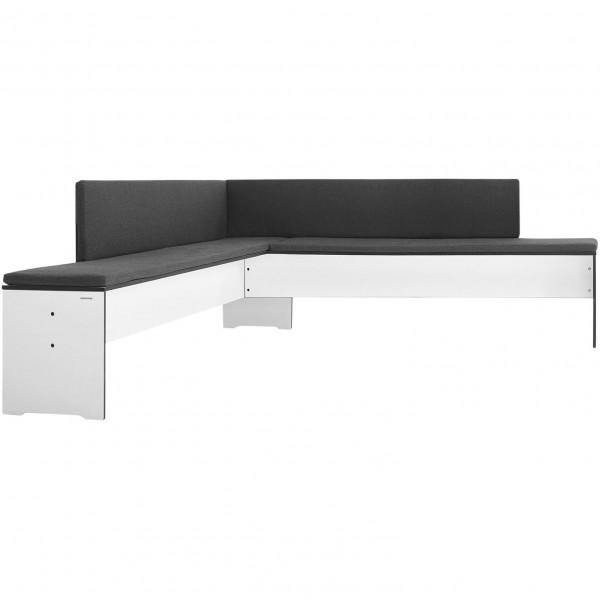 Moderne Eckbank 194 x 216 cm. Farbe Weiß