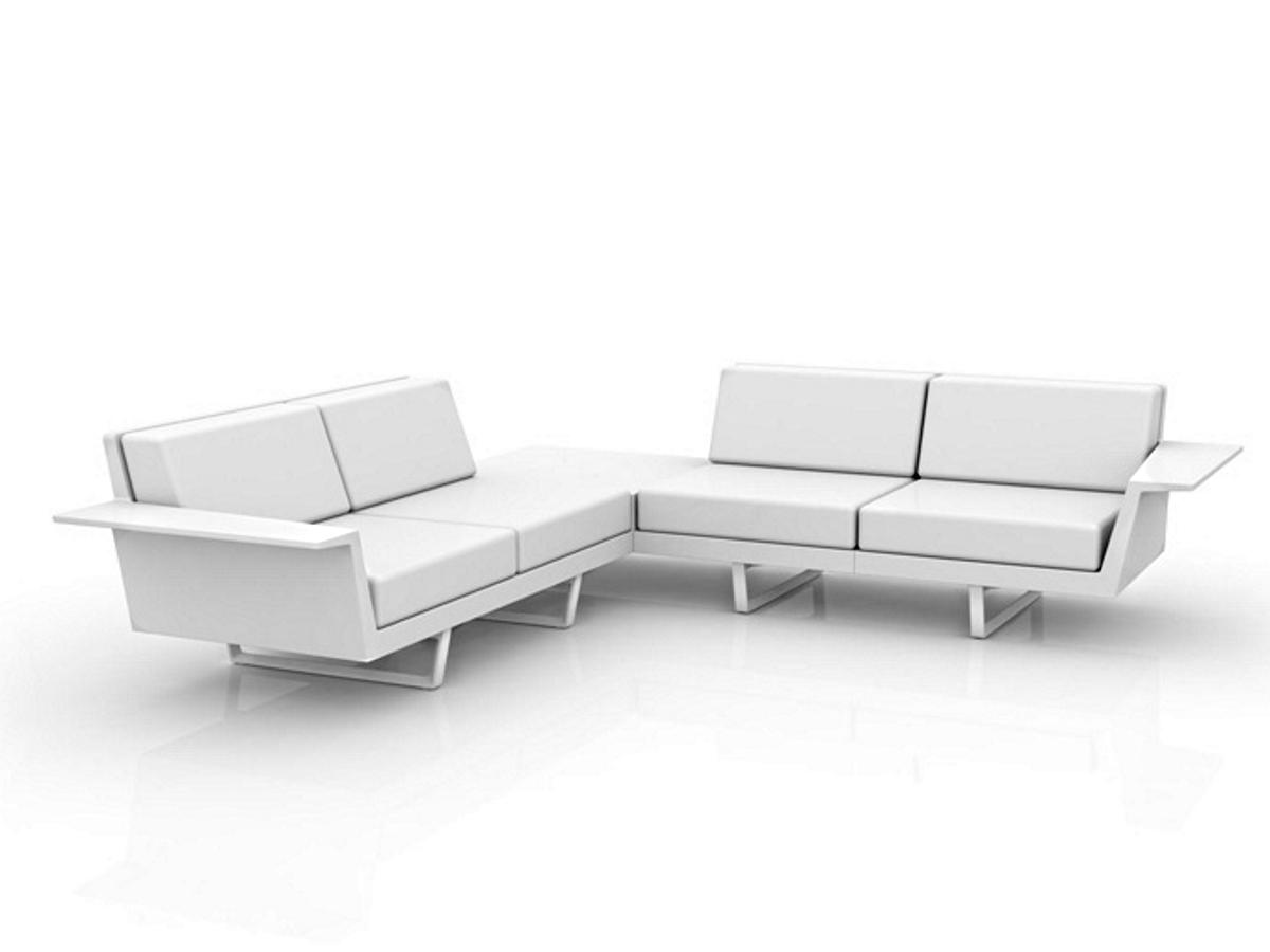 vondom 4 sitzer ecksofa mit integriertem tisch flat kaufen im borono online shop. Black Bedroom Furniture Sets. Home Design Ideas