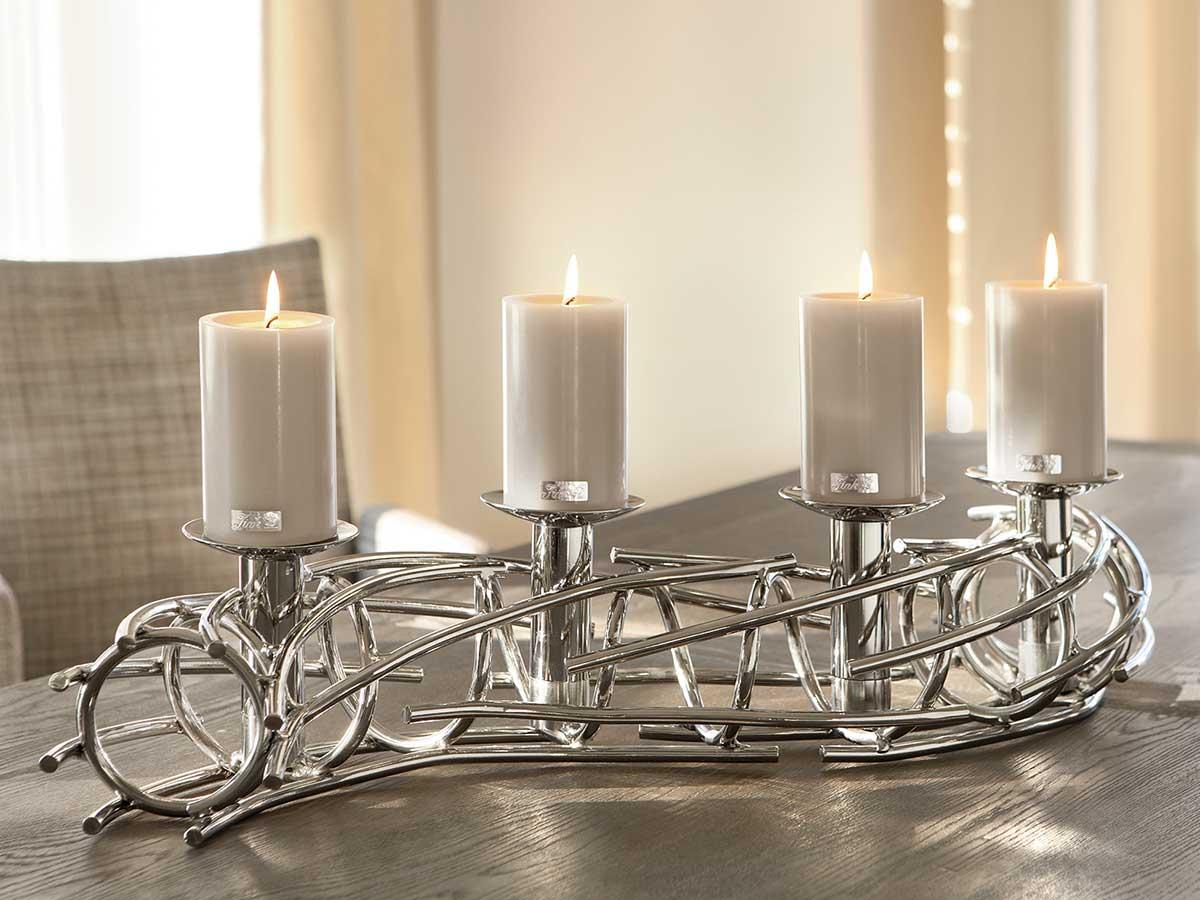 fink living kerzenleuchter corona l 86 cm kaufen im borono online shop. Black Bedroom Furniture Sets. Home Design Ideas