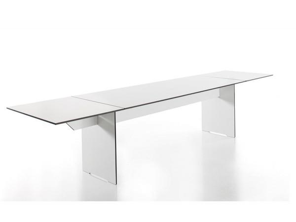 conmoto ausziehbarer Esstisch Riva Weiß 200x80/344cm