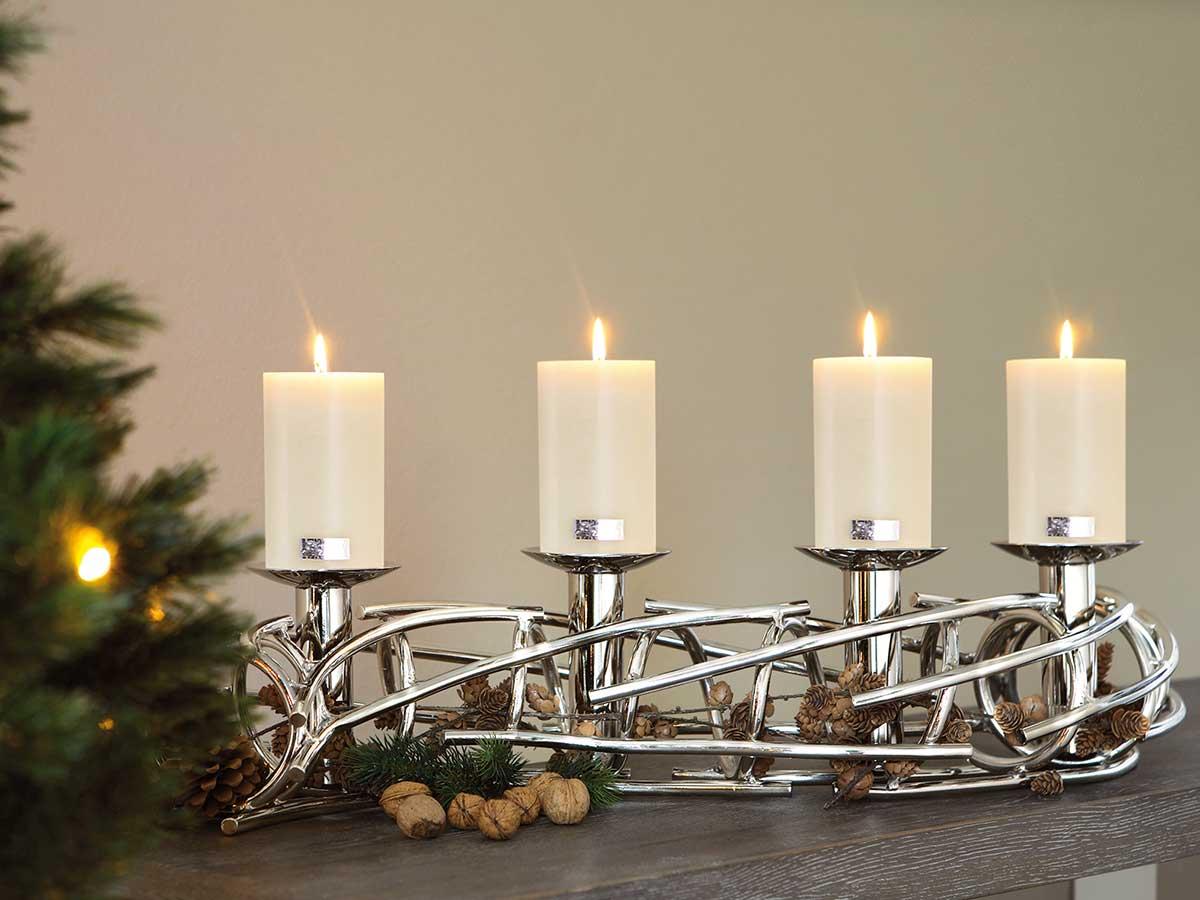 Fink living kerzenleuchter corona l 86 cm online kaufen - Adventskranz aus metall dekorieren ...