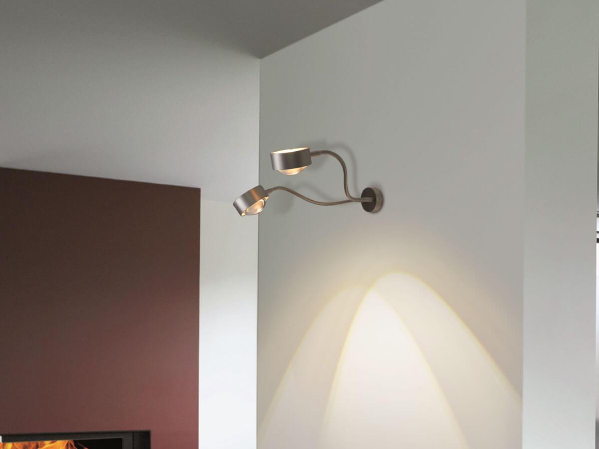 Top light wandleuchte mit schwanenhals puk flexlight wall double