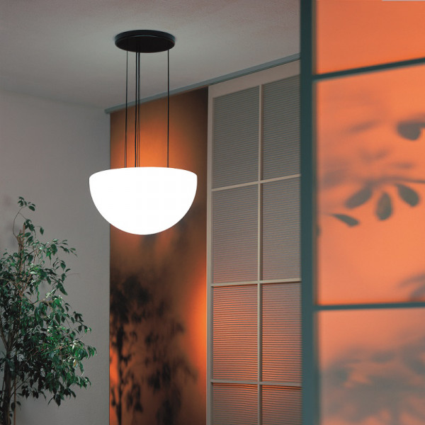Moonlight Halbkugel Hängeleuchte MHH Weiß Ambiente Indoor Orange Wand