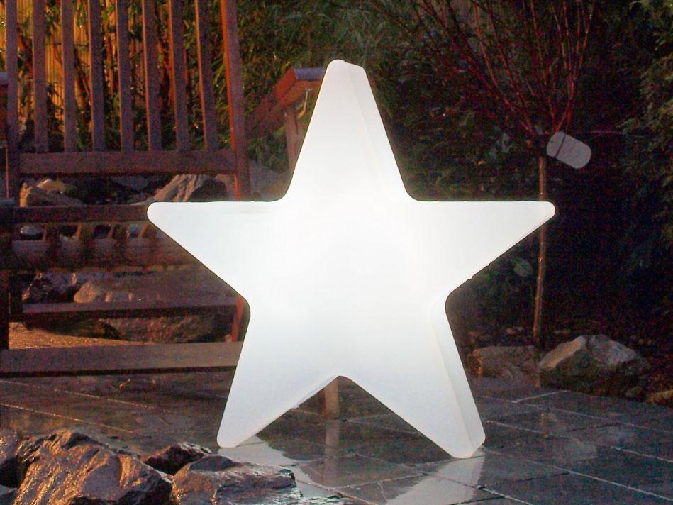 8seasons Design beleuchteter Stern Kunststoff weiß - Shining Star ...
