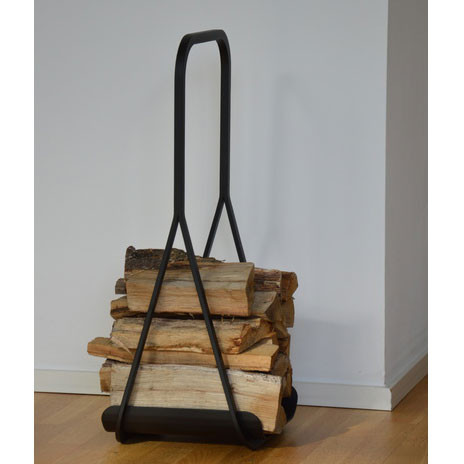 Jan Kurtz Kaminholzträger Frame aus schwarzem Stahlrohr
