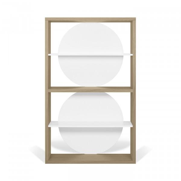 Temahome Designregal Zero - helle Eiche / Weiß