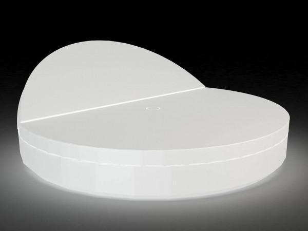 Beleuchtetes Daybed / Sonneninsel Vela - rund